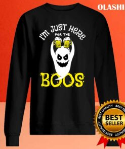 Funny Im Just Here For The Boos Halloween Women Ghost Cute T Shirt Sweater Shirt