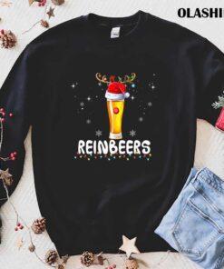 Funny Reindeer Beer Christmas Drinking Xmas Premium T Shirt Best Sale