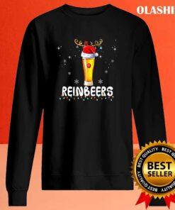 Funny Reindeer Beer Christmas Drinking Xmas Premium T Shirt Sweater Shirt