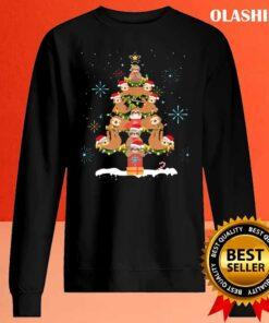 Funny Sloth Christmas Tree Pajama Matching Costume T Shirt Sweater Shirt