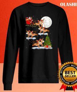 Funny Xmas Lighting Tree Santa Riding Mule Christmas T Shirt Sweater Shirt