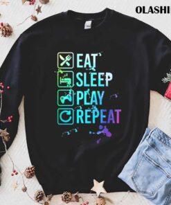 Gamer Eat Sleep Repeat Watercolor T Shirt Best Sale