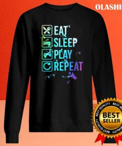 Gamer Eat Sleep Repeat Watercolor T Shirt Sweater Shirt